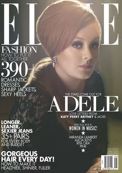 Adele Cover of Elle magazine