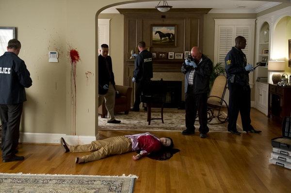 Graham examines the scene