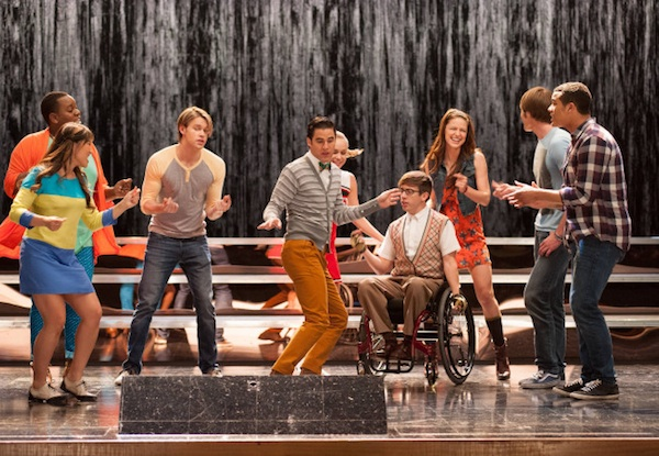 The cast in Glee
