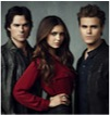 Elena, Stefan and Damon in The Vampire Diaries