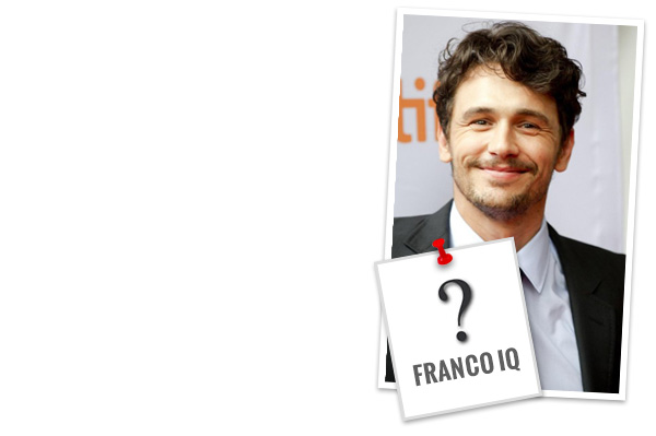 How well do you know James Franco's roles?