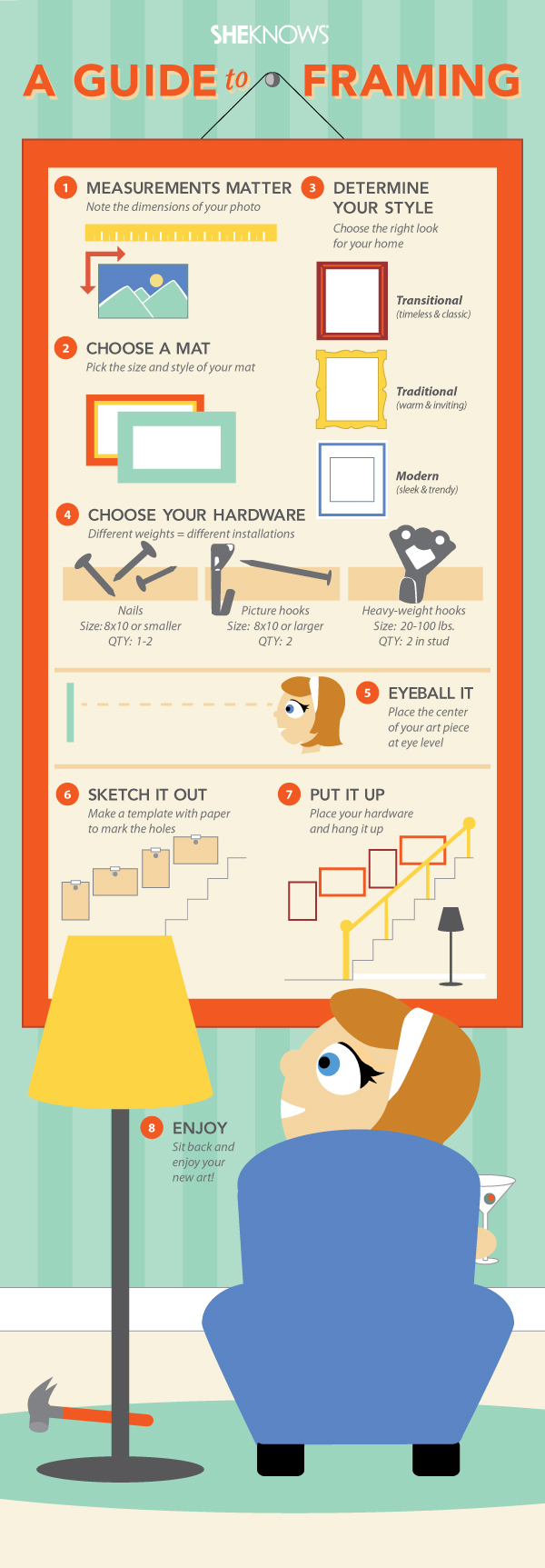 How to hang artwork