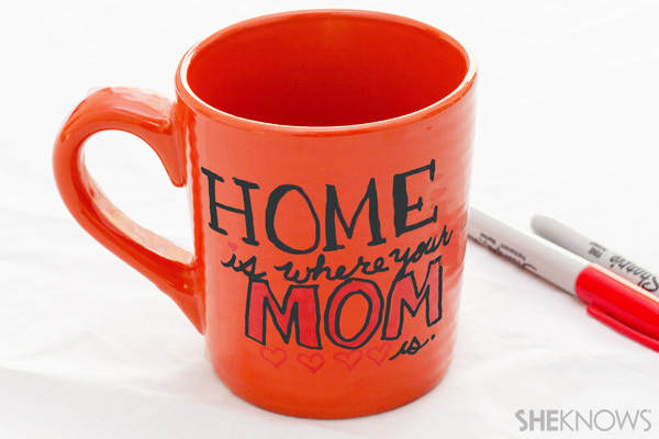 Mother's Day mug message
