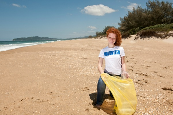 Beach clean-up event