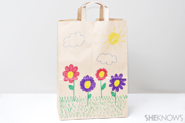 Earth Day crafts - Cleanup bags