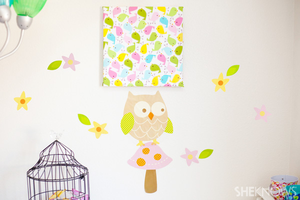 Fabric canvas - Baby nursery decor