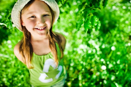 Young girl outdoors on Earth Day