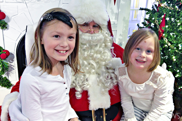 Janie and Meg with Santa