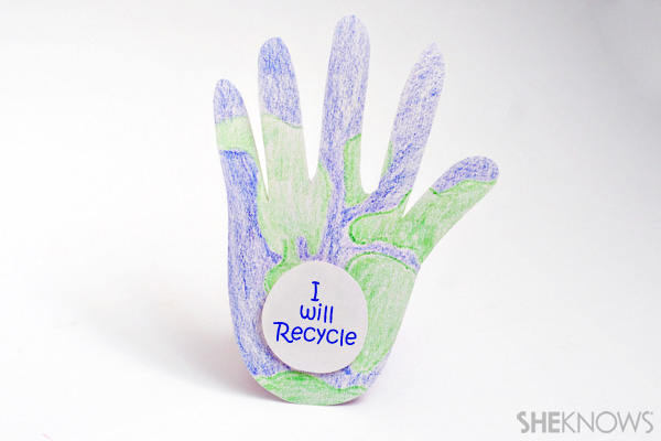 Earth Day crafts - Promise hands