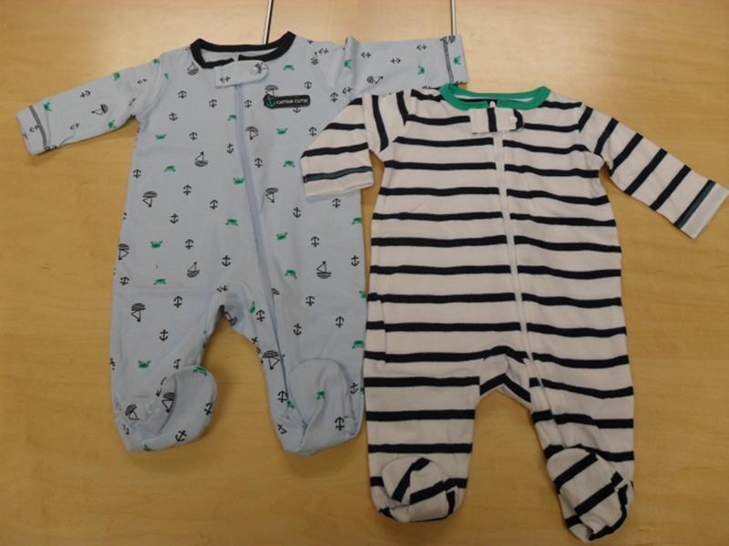Recall: Carter's one-piece clothes
