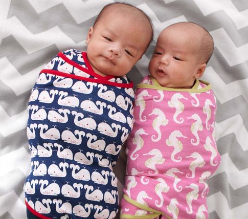 Pottery Barn Kids summer swaddles