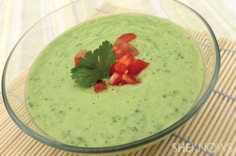 Chilled avocado-cucumber soup