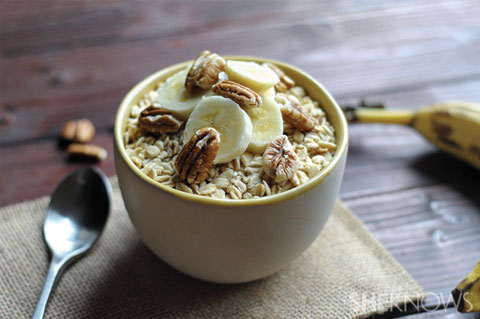 banana pecan overnight oatmeal