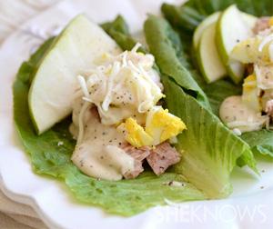 Tuna nicoise lettuce wraps