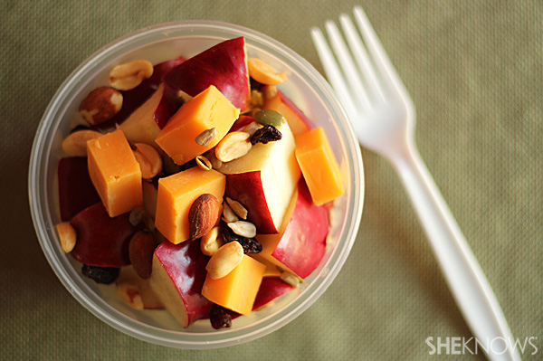 Apples with Cheese & Trail Mix