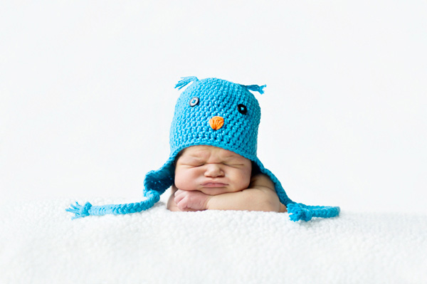 baby photo with hat