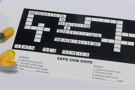 Crossword wedding announcement