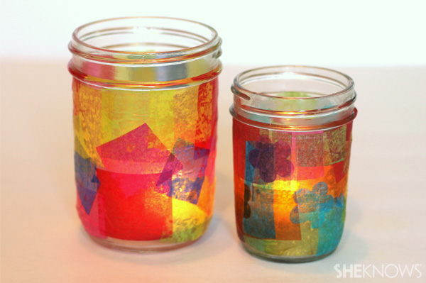 Mason Jar Candle Holder Craft
