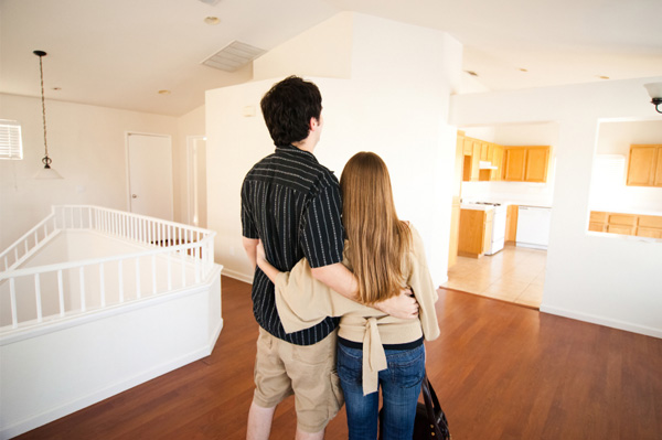 couple looking at new house