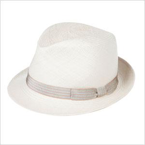 White Straw Panama hat