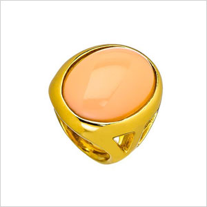 Peachy cocktail ring