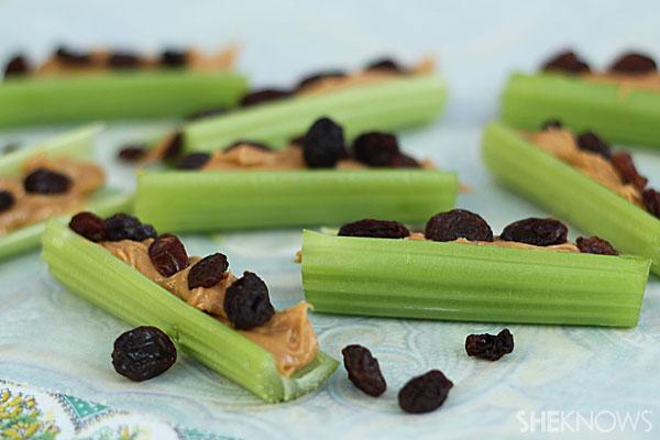 Ants on a log celery sticks.