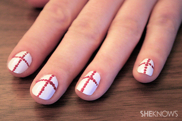 Nail your St. George's Day look with this simple, yet cute nail art design