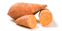 Isolated sweet potatoes
