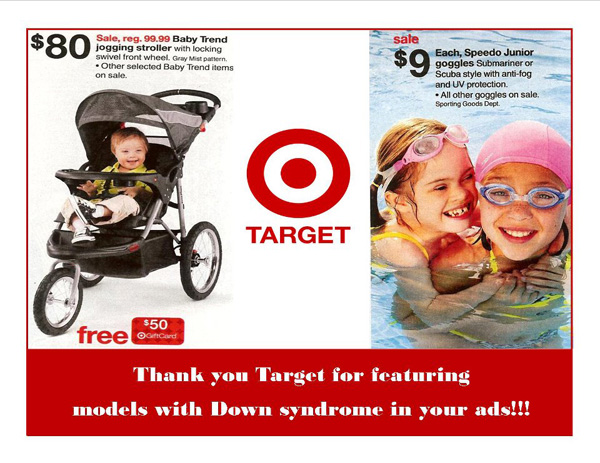 Target add featuring child with Down syndrome