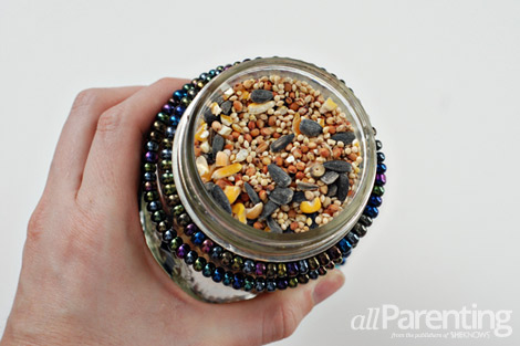 mason jar bird feeder image 12