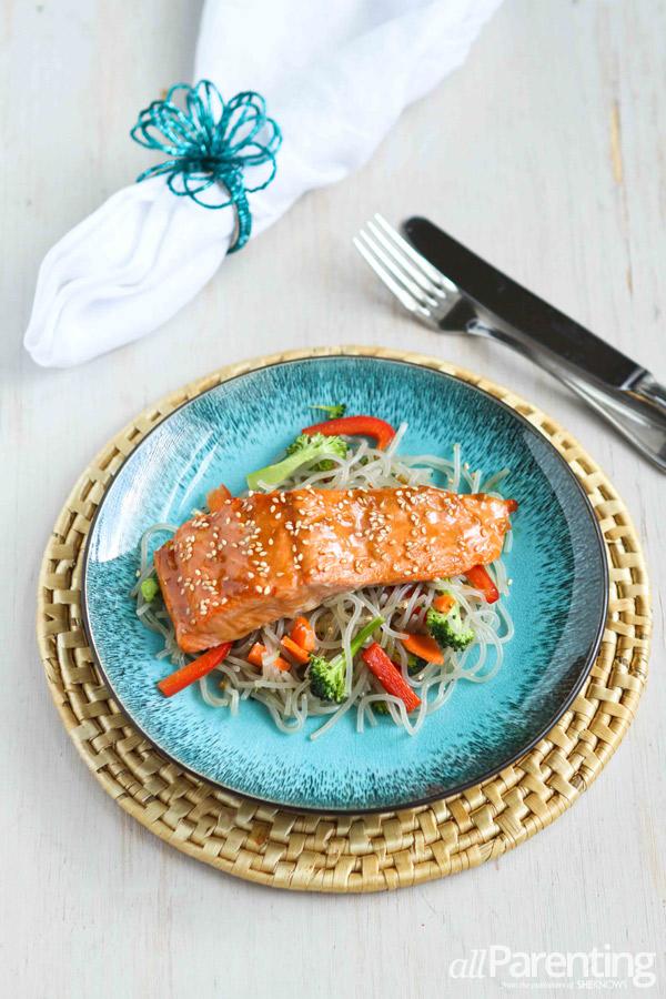 allParenting broiled teriyaki salmon