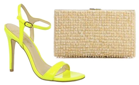 Fergie maternity style shoes and clutch