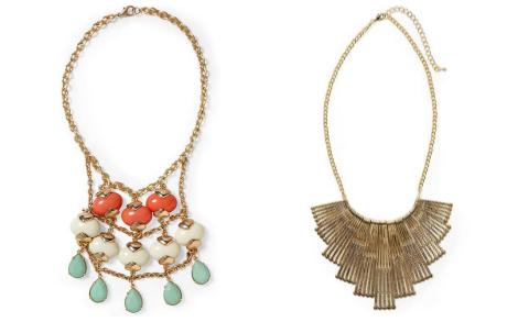 Kristen Bell statement necklaces