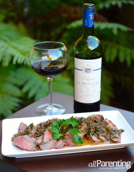 allParenting Steak Diane with Bordeaux