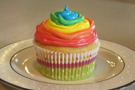 Rainbow cupcakes- spring