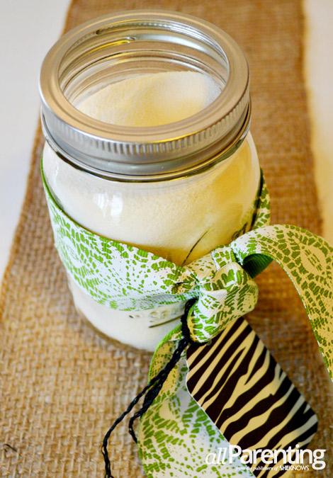 allParenting homemade milk bath gift