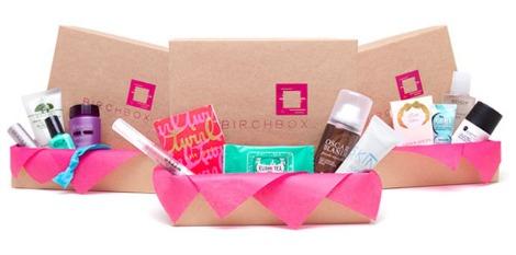 Beauty sample box: Birchbox