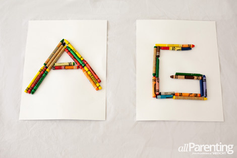 Crayon letter pictures