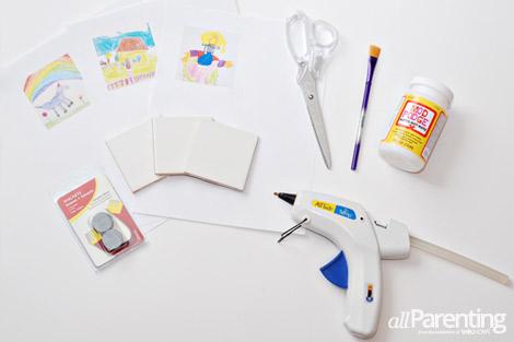 diy art magnets materials