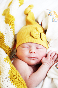 No-sew upcycled baby hat
