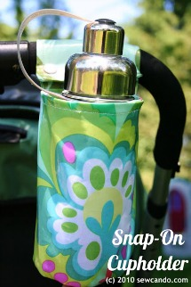 stroller cup holder tutorial