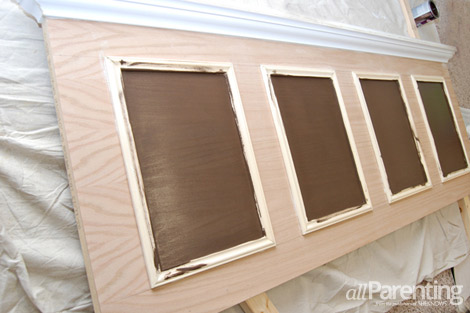 Make your own headboard out of a door