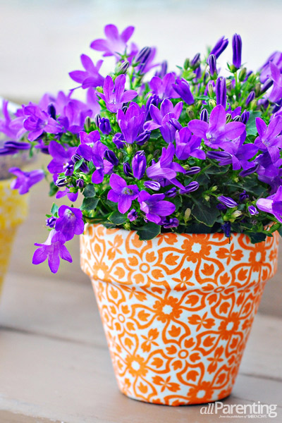 Fabric covered terracotta pots - Pretty diy flower pot ideas ...