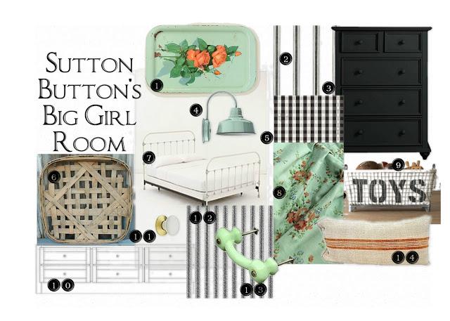 The Girl is Craftee bedroom design board