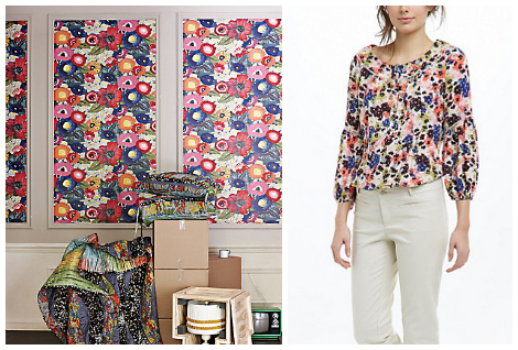 Granny chic- wallpaper and blouse
