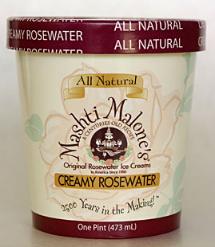 Rosewater ice cream