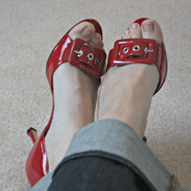 Estelle Hayes sexy shoes