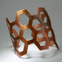 Honeycomb Copper Cuff Bracelet