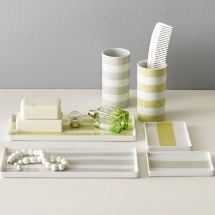Porcelain Stripe Trays