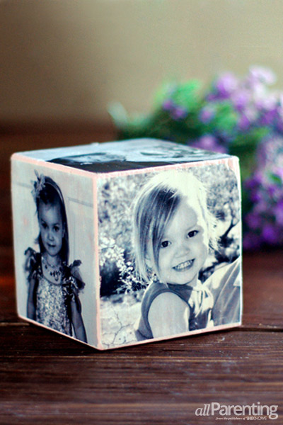 allParenting DIY photo cube